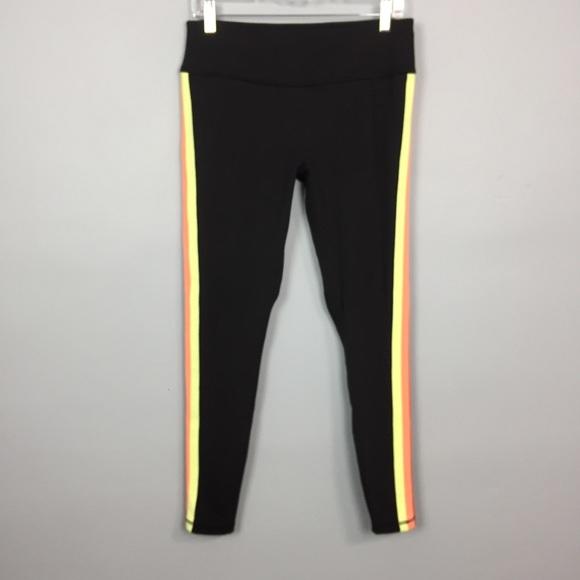 Avia Pants - AVIA Athletic Legging Red Orange Yellow Stripe
